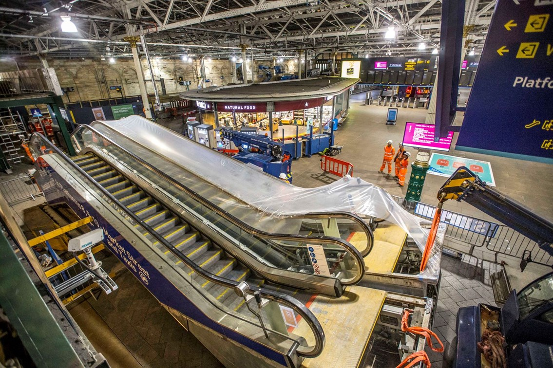 Waverley escalators are a step up for customers: Waverley escalators