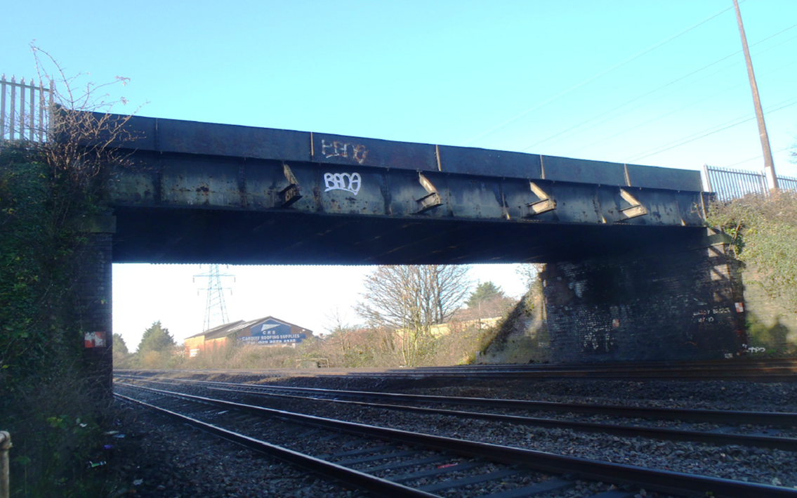 Mardy Road Bridge in Cardiff to be upgraded as electrification of the South Wales Mainline continues: Mardy Road Bridge in Cardiff