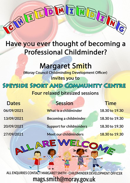 Childminding recruitment event in Speyside