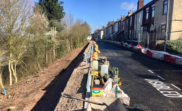 Completed work on West Parade in Stoke-on-Trent in Spring 2019