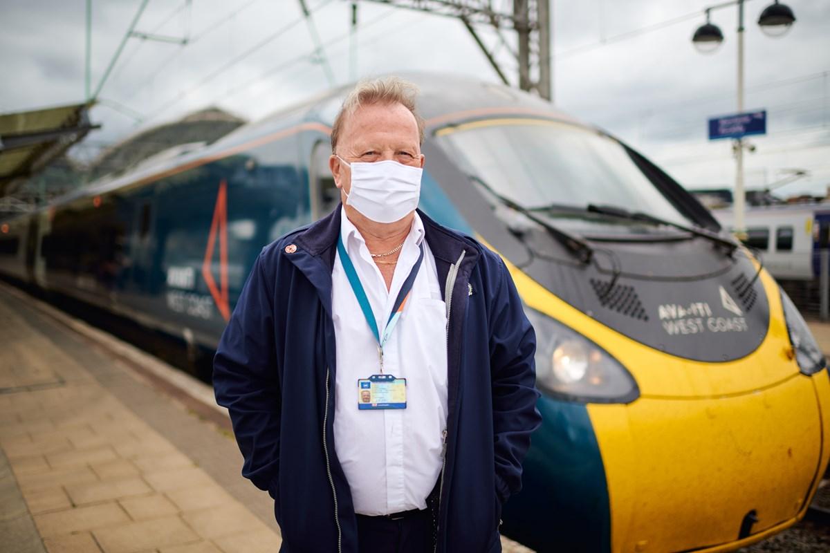 Avanti West Coast Steve Wilson 1: Steve Wilson (Train Driver, Avanti West Coast) at Manchester Piccadilly