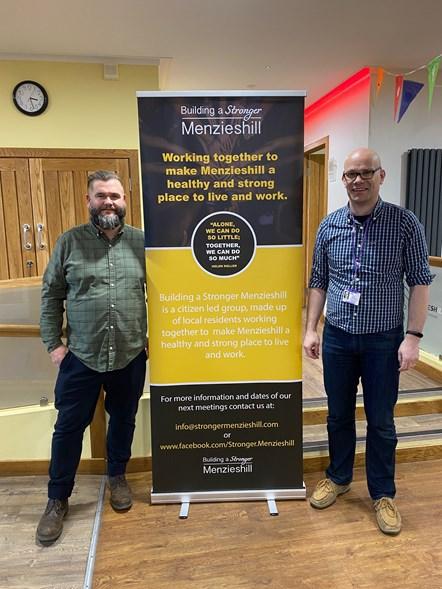 Building a Stronger Menzieshill left-Bob Mallinson, right- Ian Wilson- Secretary