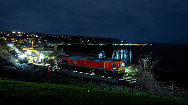Work on the St Ives bay line as part of the biggest track investment in Cornwall in 60 years