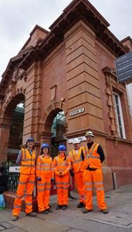 Daniel Windwood (Nottingham City Council) Jacquie Brown (Network Rail) Robyn Briggs (Network Rail) Garry Hanna (Galliford Try) and David Bamford (Galliford Try)