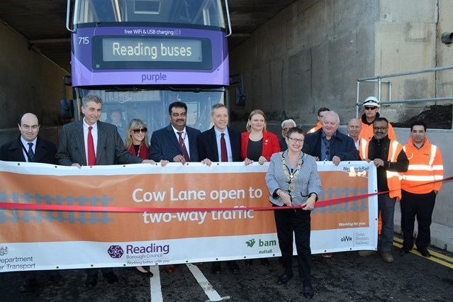 Newly removed traffic bottleneck in Reading to benefit further as new pedestrian and cycle route set to open: Cow Lane opening