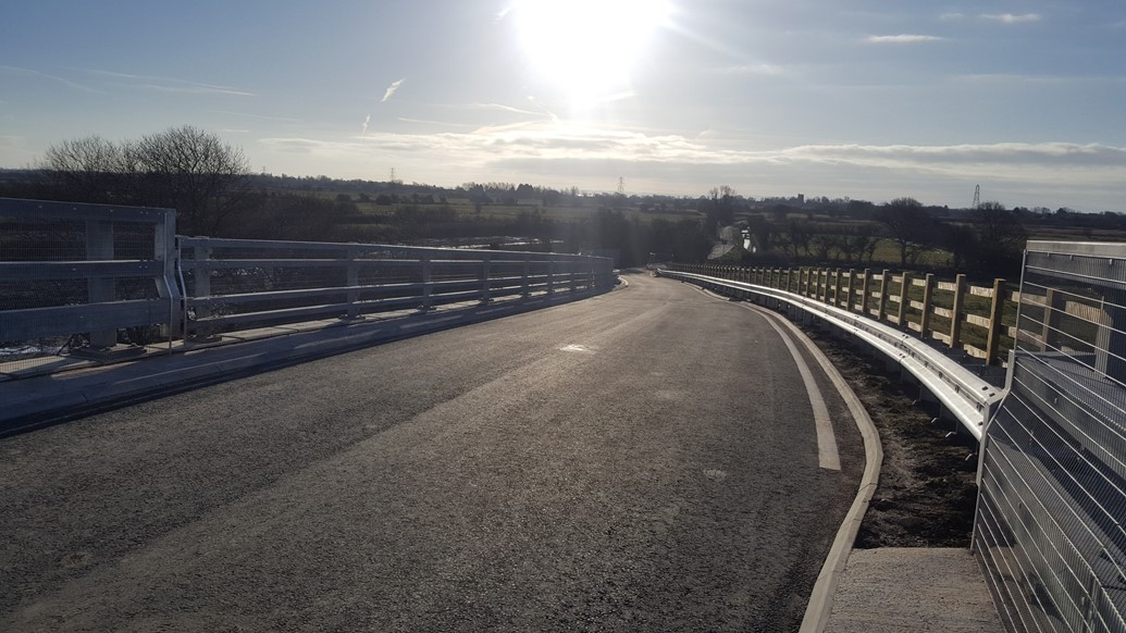 Green Lane road bridge reopens following reconstruction: Green Lane road bridge reopens following reconstruction