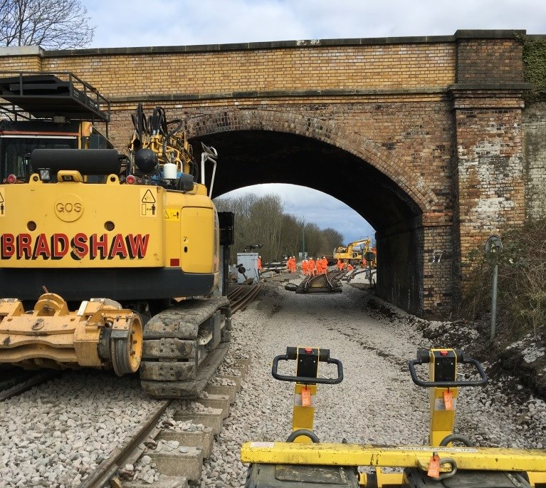 VIDEO: Landmark step on Midland Main Line Upgrade takes place: Masts have been installed between Kettering and Corby as part of the Midland Main Line Upgrade