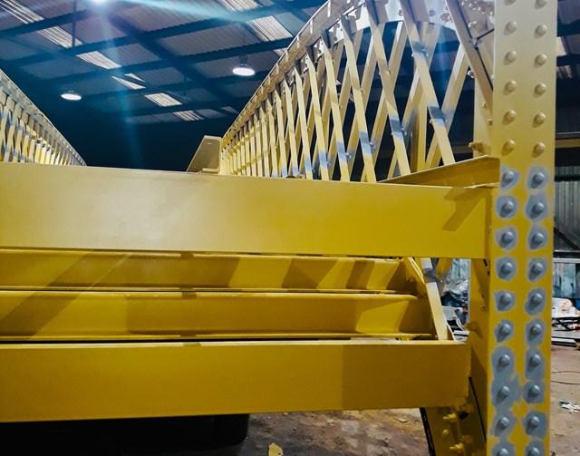 Bridge lift is a step up for Stirling station: Refurbished Stirling station footbridge deck   Hi Res