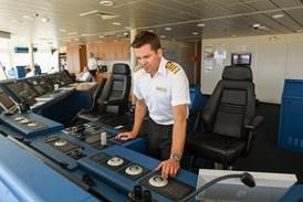 Saga Cruises' Captain Kim Tanner on Spirit of Adventure's Bridge (2)