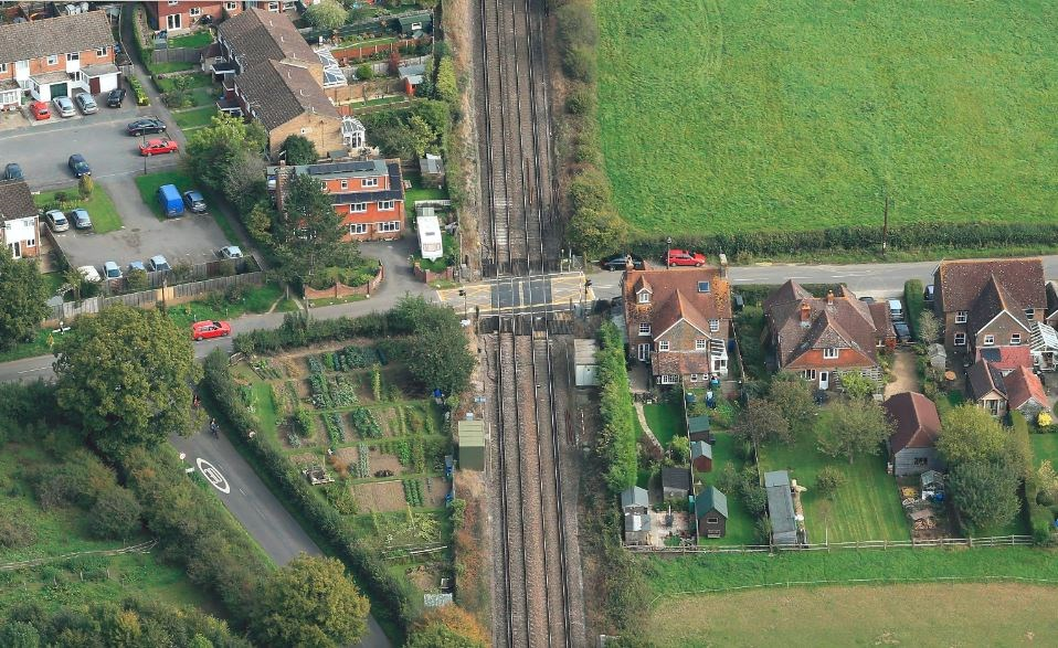 Network Rail to reopen Barns Green level crossing in West Sussex: Barns Green level crossing, over Emms Lane, West Sussex