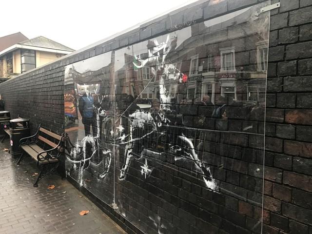 Network Rail protects Banksy's Birmingham homelessness art: Protected Banksy artwork in Birmingham