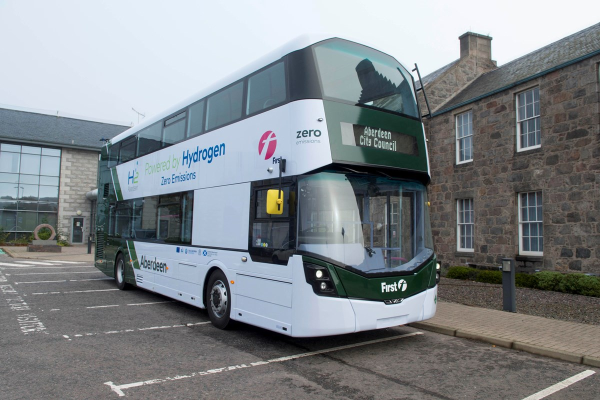 ACC-1881: World's first hydrogen double decker bus - photo courtesy of Aberdeen City Council