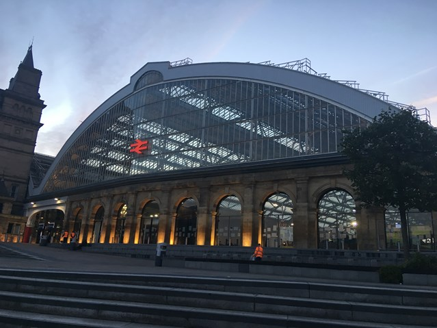 Passengers reminded to check before they travel in or out of Liverpool this Sunday: Liverpool Lime Street station picture