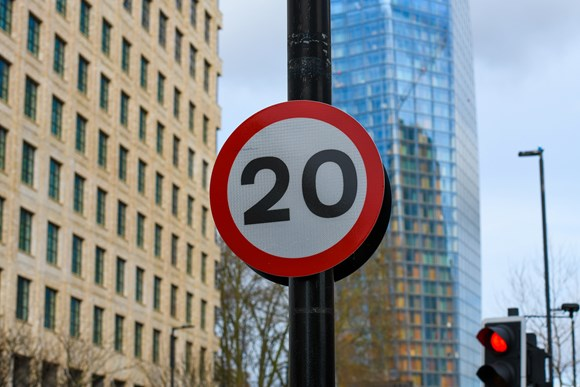 TfL Press Release - Road danger reduced in the capital with new 20mph speed limits on all TfL roads in central London from next week: TfL Image - 20mph