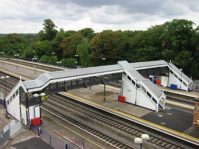 Refurbished Taplow Footbridge: Taplow Station footbridge after a £250,000 refurbishment project by Network Rail