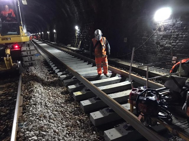 Upholland tunnel track renewal-2