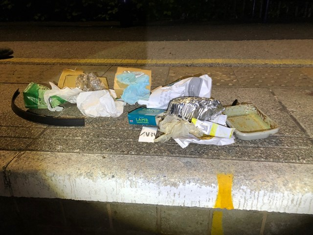 Litter collected from around platform at Windermere Station in July