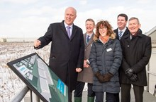 Siemens plans new rail factory in Goole 4: Transport Secretary Chris Grayling views the Goole site with, from left, Gordon Wakeford, Siemens' Managing Director, UK Mobility Division, Ruth Humphrey, Siemens' Project Director, Andrew Percy MP, and Vernon Barker, Managing Director, Siemens' UK Rolling Stock Business Unit.