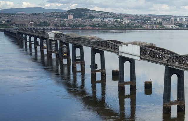 Tay Bridge during refurb, looking north
