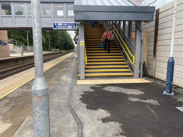 Bridging the gap at Liphook as accessible and covered footbridge opens: Liphook New Footbridge (2)