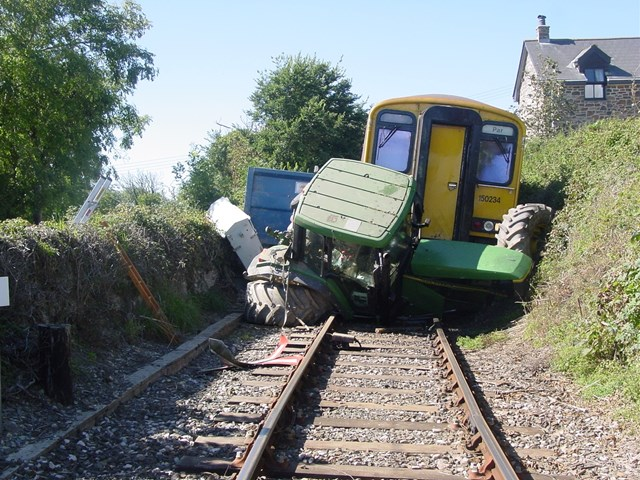 Level Crossing Awareness in Cornwall: Level Crossing collision at Coswarth crossing, Newquay line