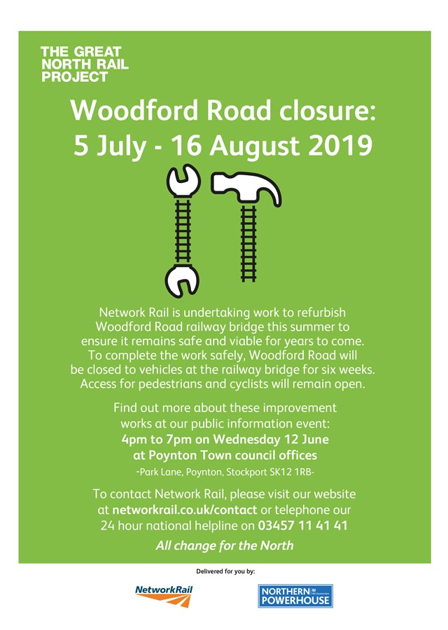 Woodford Road info event poster June 2019