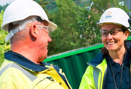 Gas networks employees from SGN: Photo supplied by SGN, rights reserved.
