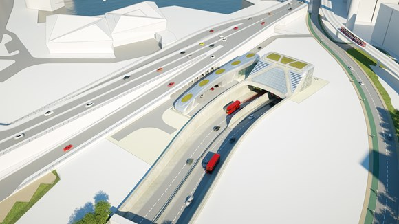 TfL Image - Silvertown portal overview