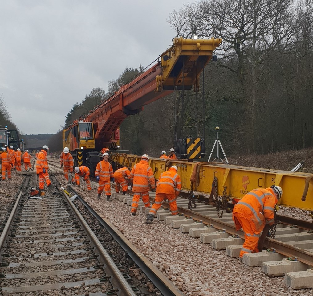 Passengers at the heart of new plans to spend a record £4.3 billion on the railway in south London, Kent and Sussex: Balcombe track replacements