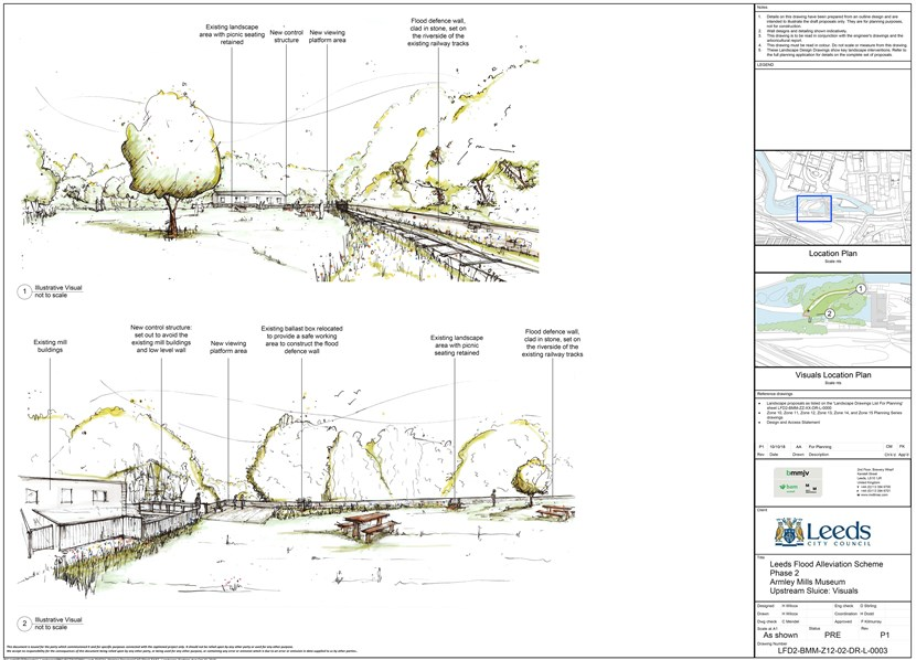 Planning application submitted for further £112.1m of Leeds flood defences: pressreleasearmleymillsvisuals-680524.jpg