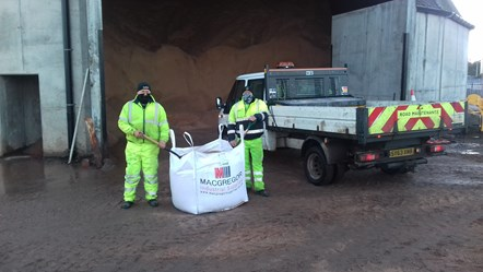 William Blake and Mark Newlands from Moray Council's roads maintenance section