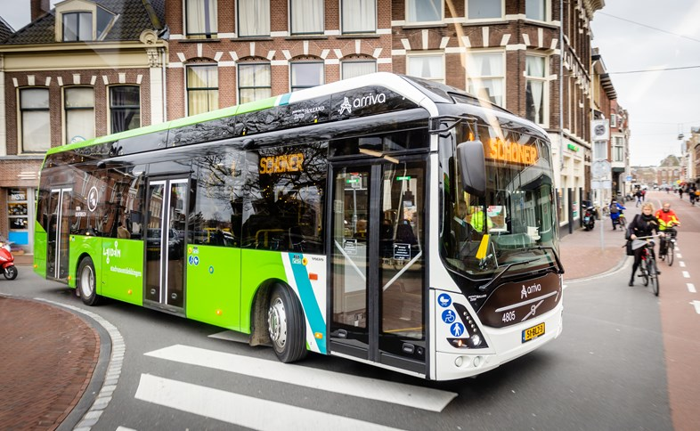 Arriva reaches green milestones in the Netherlands: Arriva electric bus Leiden