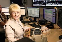 Dame Barbara Windsor in the control room at London Bridge station: 2016 Royal British Legion Poppy Appeal