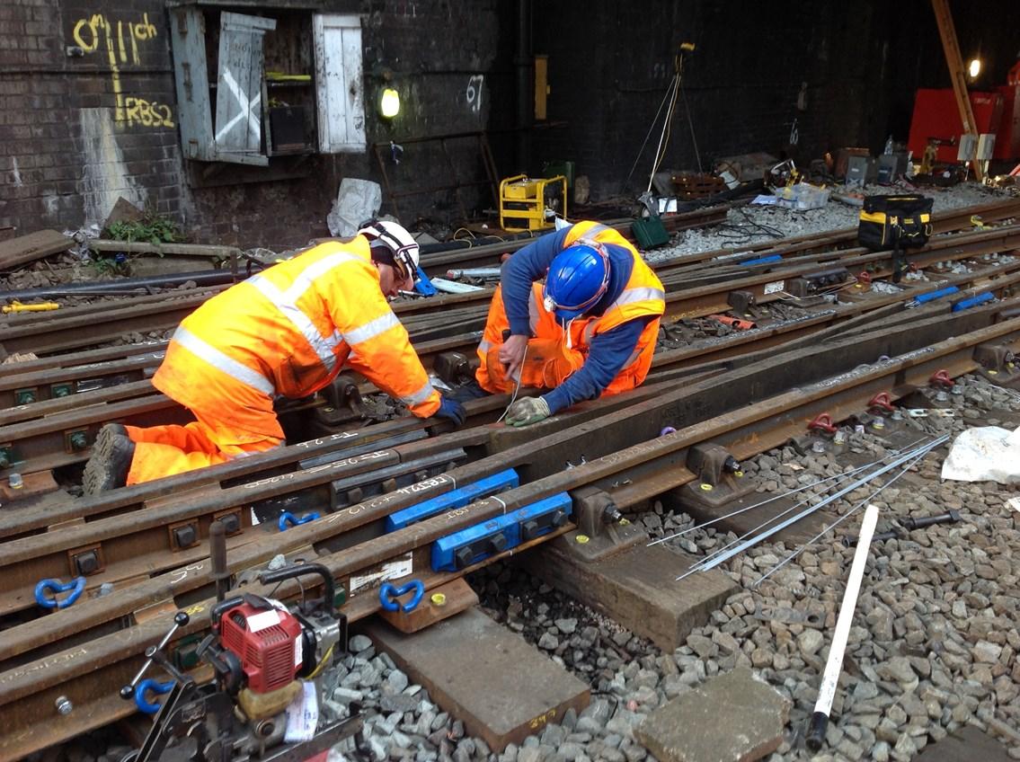 Birmingham New Street track maintenance