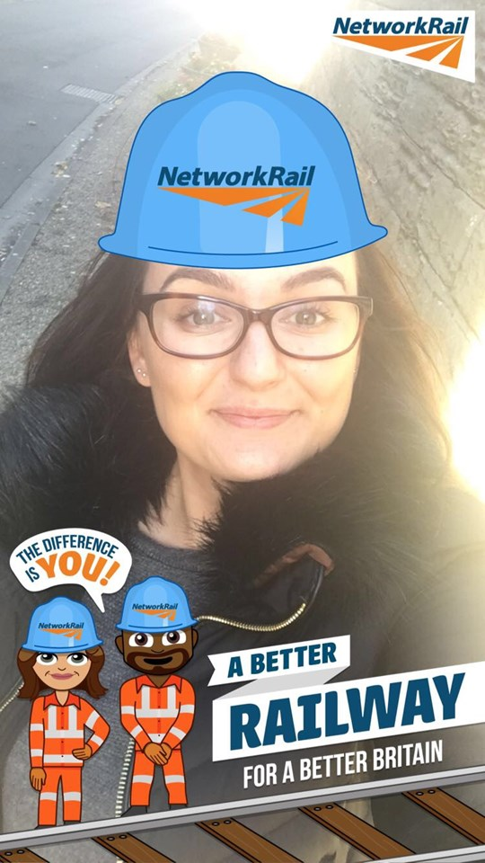 Hollie from Network Rail tries out the new filter