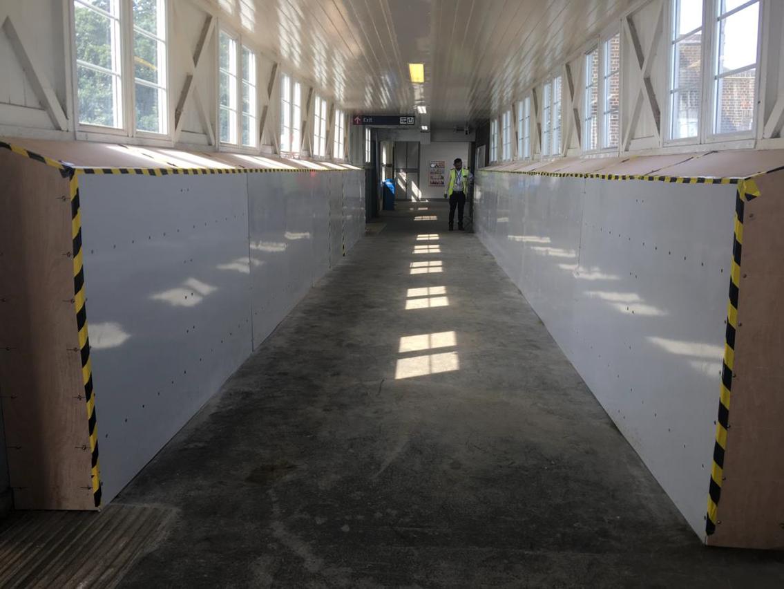 Chalkwell station footbridge reopens following repairs: Chalkwell footbridge strenthening complete