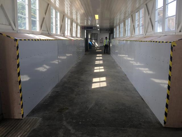 Chalkwell footbridge strenthening complete