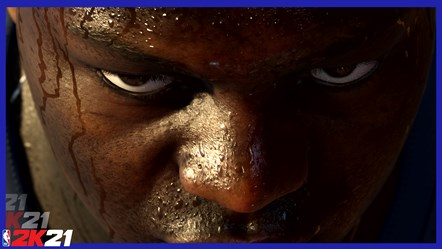 NBA 2K21 - Zion Williamson Focused (Still from PS5 Teaser Trailer)