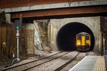 Trains at full speed through newly-enlarged Farnworth Tunnel – Feb 2016(Courtesy of Graeme Bickerdyke)