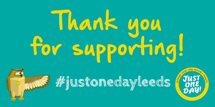 'Just One Day' fundraiser returns virtually this year in aid of Lord Mayor's charity appeal: Just One Day Leeds