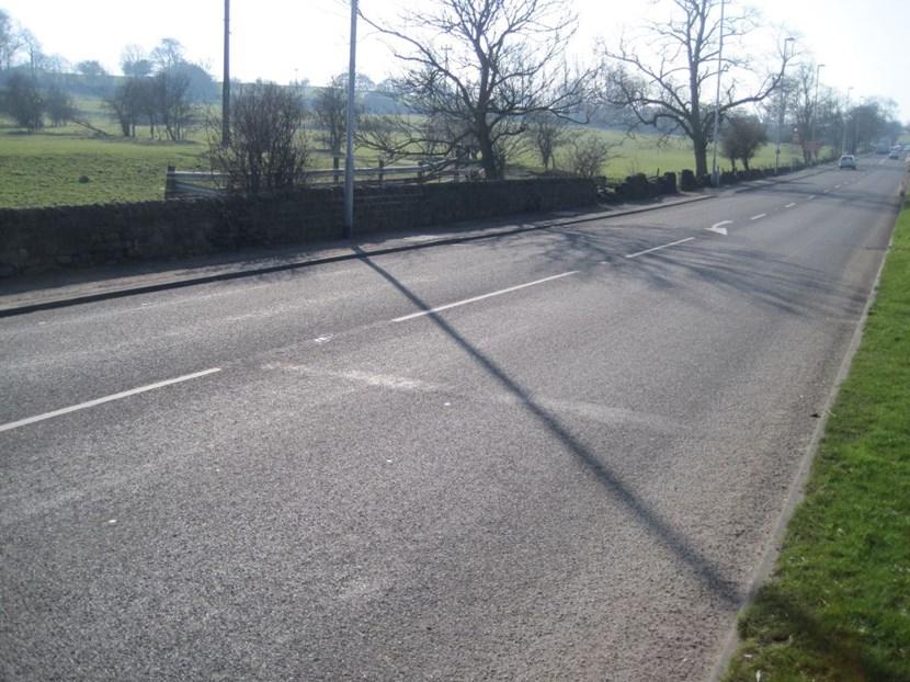 Culvert repair works needing to be extended on A658 Pool Bank New Road: roadsurfaceaboveculvart.jpg