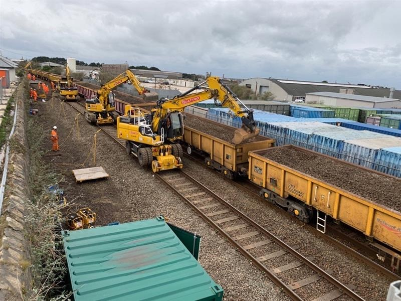 More reliable journeys for passengers following Cornwall railway upgrade: West Cornwall rail upgrade work