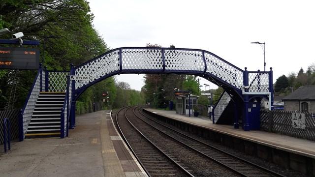 Edwardian railway footbridge restoration complete for passengers: Arnside station footbridge renovation