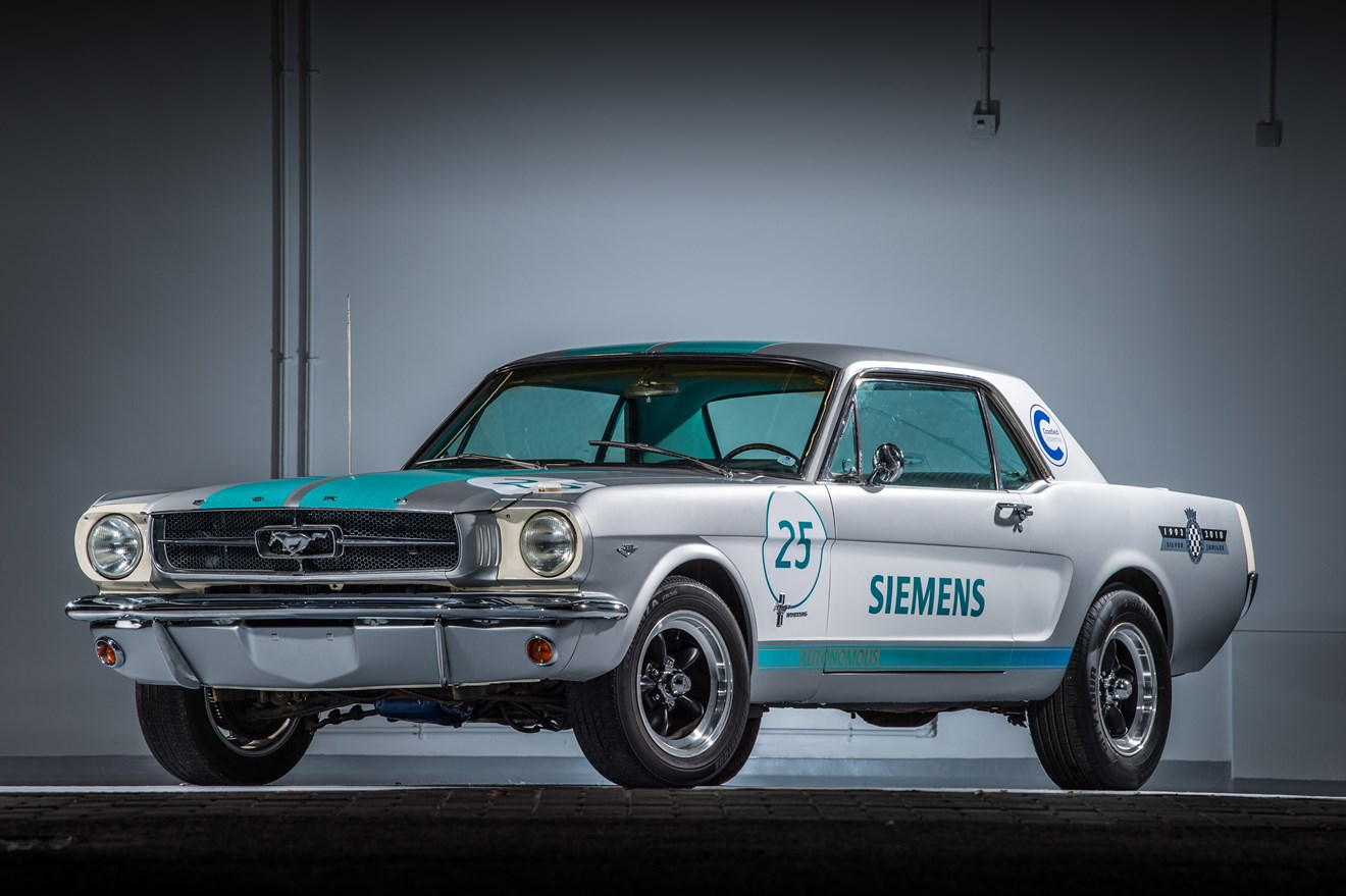 Siemens reveals 1965 Ford Mustang as autonomous vehicle at this year's Goodwood Festival of Speed: Siemens reveals 1965 Ford Mustang as autonomous vehicle at this year's Goodwood Festival of Speed