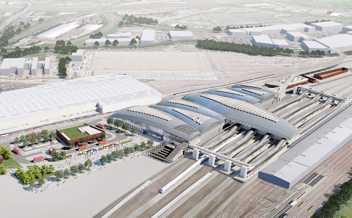HS2 could provide green energy to hundreds of new homes: Old Oak Common Station18 Aerial A 13 cropped