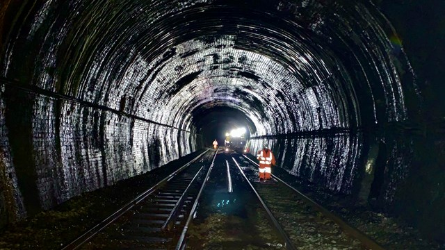Rowley Regis tunnel repairs to make railway more reliable for passengers: View inside Old Hill tunnel in Rowley Regis