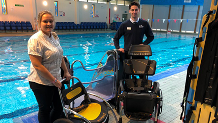 New equipment for swimmers at Carterton: Poolchair
