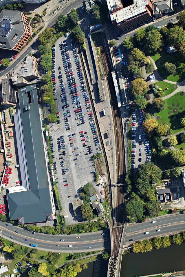 Maidstone Station aerial: Aerial view of Maidstone Station