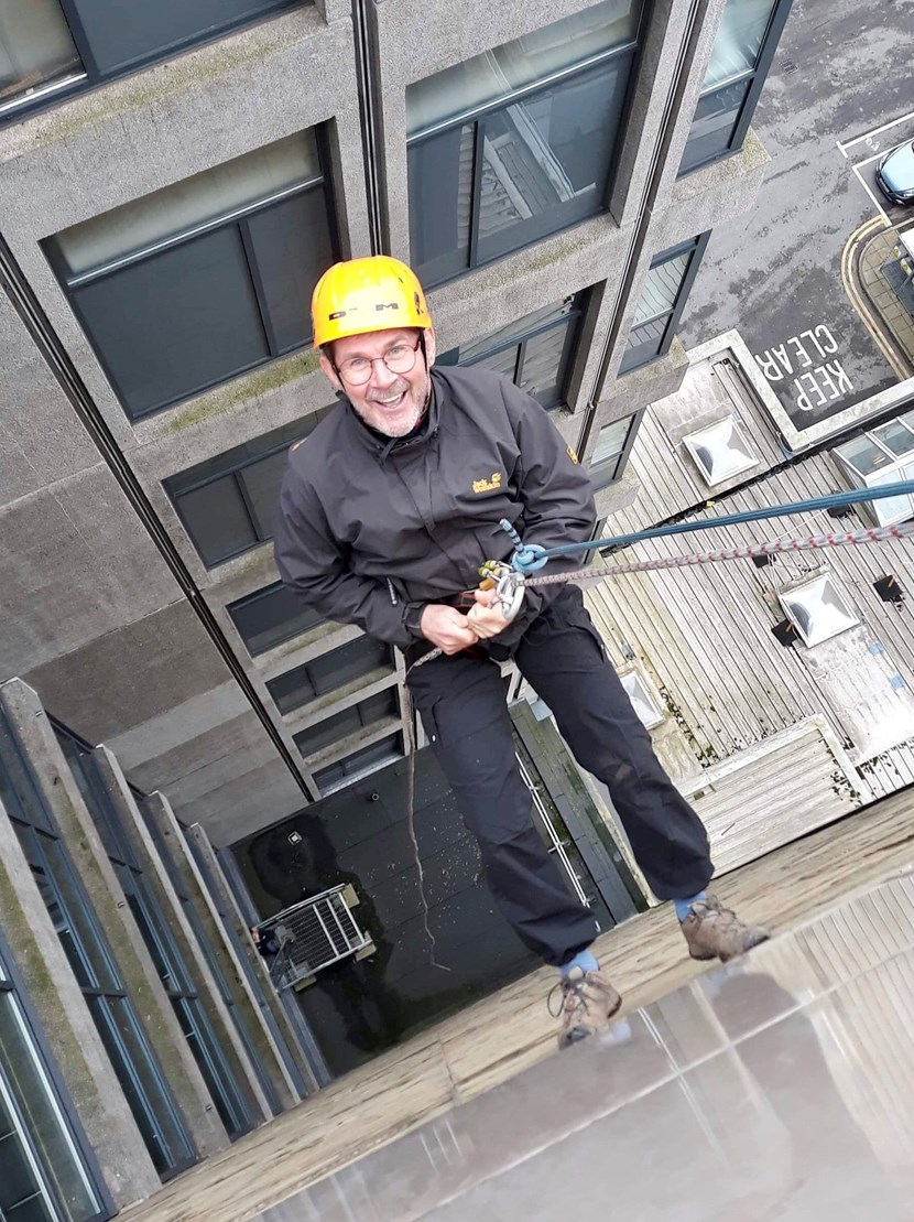 Council director takes leap of faith and abseils down 10-storey building in Leeds: swabseil2-858334.jpg
