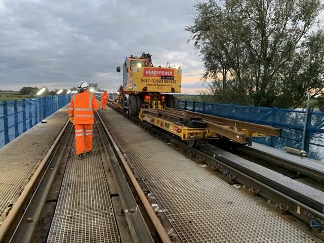 Emergency railway works between Ely and Peterborough reach halfway point: ManeaBridge